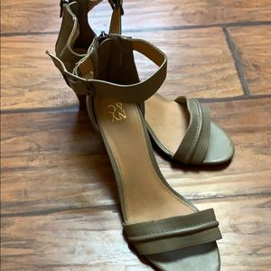 Green Strappy Wedge Sandals size 9
